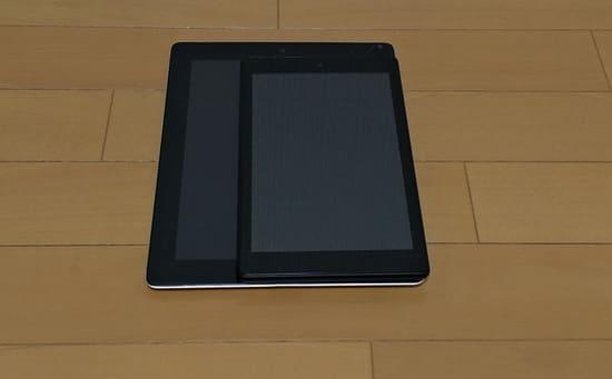 FireHDとiPad2のサイズの比較