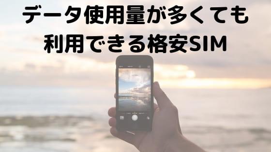 エンタメフリーオプションのある格安SIM